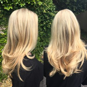 Light Blonde Color Long Hair Women's Hair Style